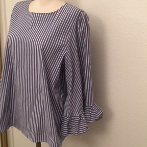 Madewell size M washable cotton blend blouse